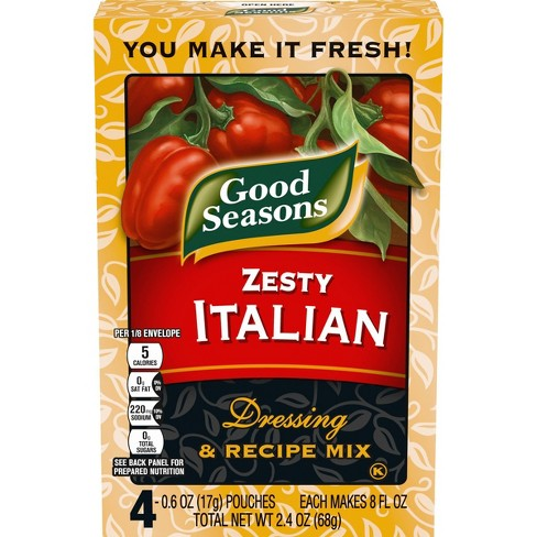 Good Seasons Zesty Italian Dressing & Recipe Mix 4ct - image 1 of 4