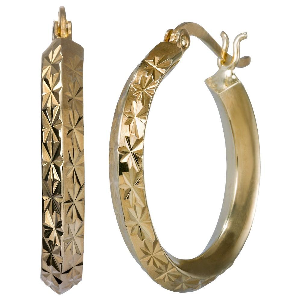 Diamond Cut Hoop Earring - Fusion Gold, Girl's, Gold Fusion