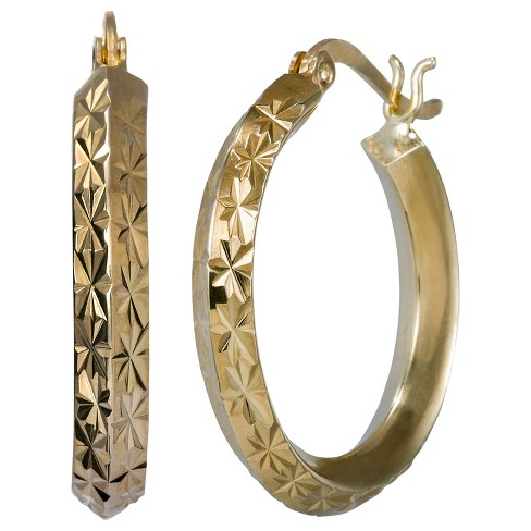 Diamond Cut Hoop Earring - Fusion Gold - image 1 of 1