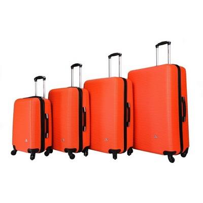 InUSA Royal Lightweight Hardside Spinner 4pc Luggage Set - Orange