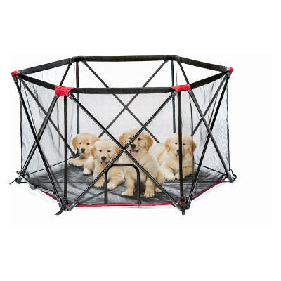 Carlson Red Six Panel Portable Cat and Dog Pen