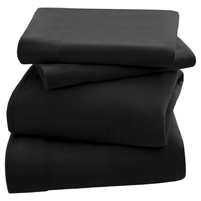 3M Scotchgard™ Micro Fleece Sheet Set (Queen)Black