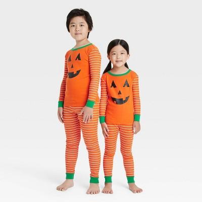 Toddler Halloween Pumpkin Matching Family Pajama Set - Orange