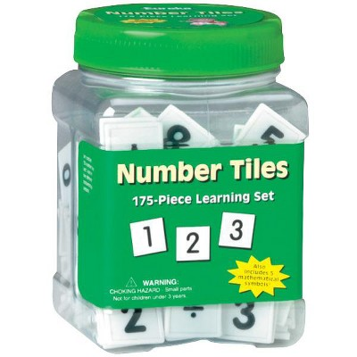 Eureka Number Tiles Learning Set, 175 pc