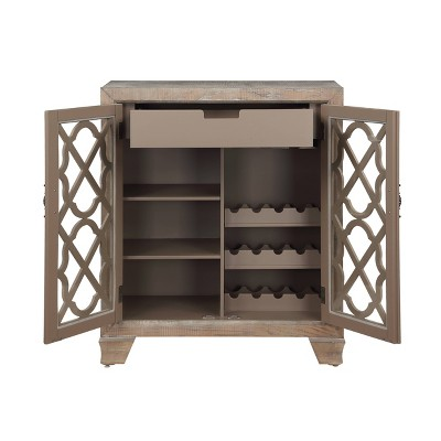 Bronte 2 Door Wine Cabinet Brown - Treasure Trove Accents