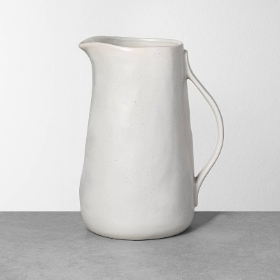 Refined Stoneware Pitcher Speckled Natural - Hearth & Hand™ with Magnolia
