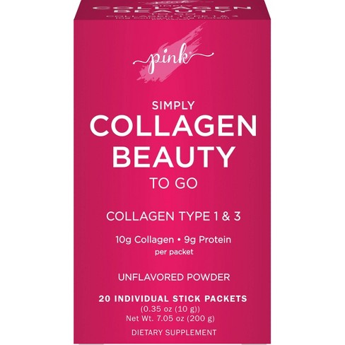 Pink Simply Collagen Beauty to Go Unflavored Powder Stick Packs - 20ct - image 1 of 4