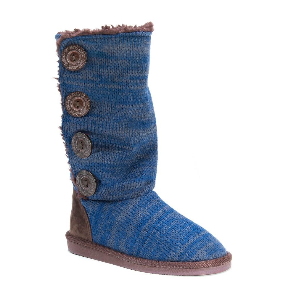 Women's Muk Luks Liza Slipper Boots - Denim Blue 10