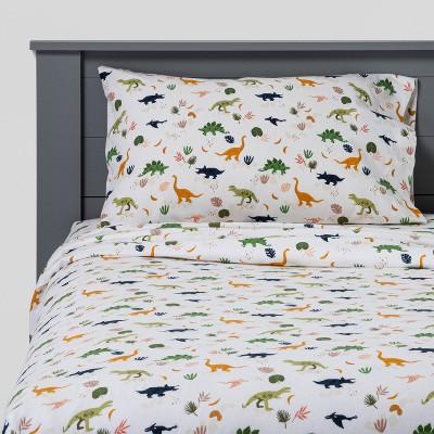 Dinosaur Flannel Sheet Set - Pillowfort™