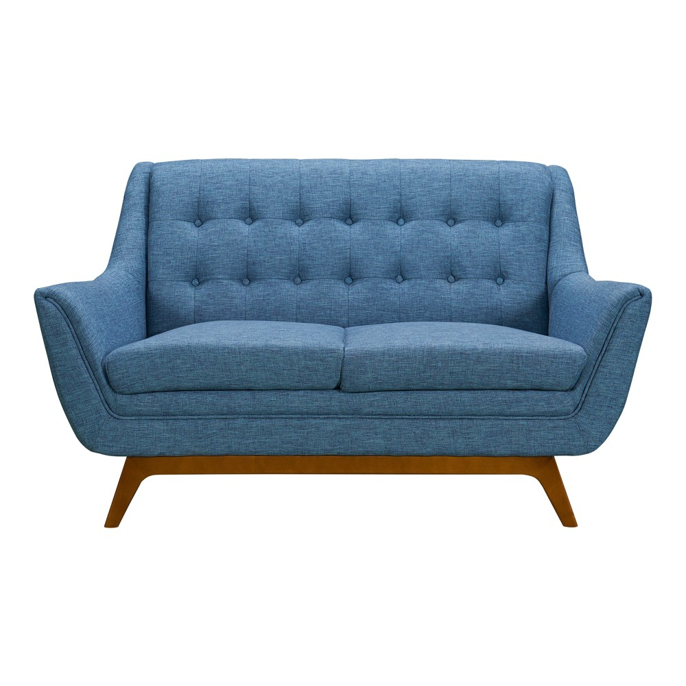 Image of Darna Mid-Century Loveseat Blue - Modern Home
