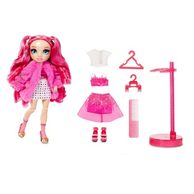 Rainbow HighStella Monroe – Hot PinkFashion Dollwith 2 Complete Mix & Match Outfits andDoll Accessories