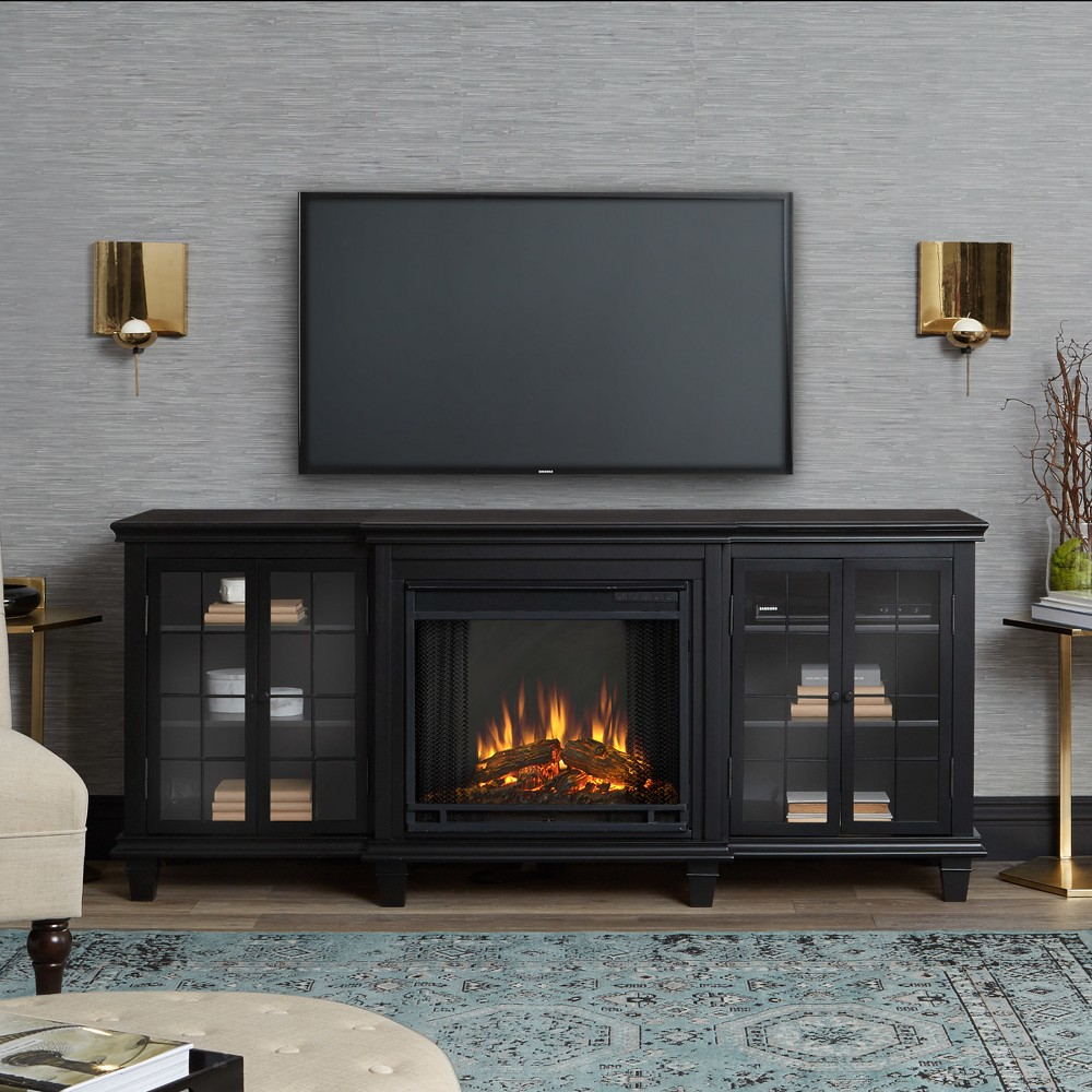 Image of Real Flame Marlowe Electric Fireplace Entertainment Center - Black