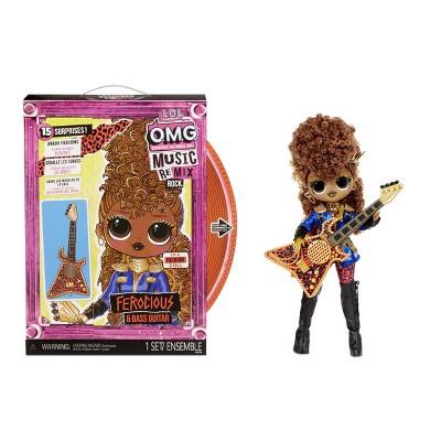 L.O.L. Surprise! OMG Remix Rock Ferocious and Bass Guitar Fashion Doll