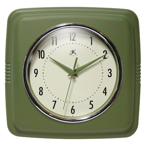 Infinity Instruments Infinity Instruments Square Wall Clock Green - image 1 of 4