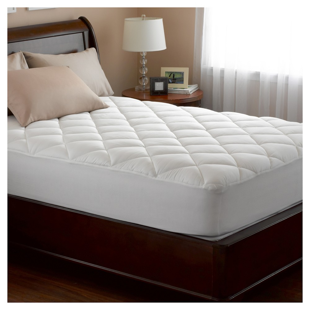 Spring Air Illuna Ultra Plush Comfort Mattress Pad - White (Queen)