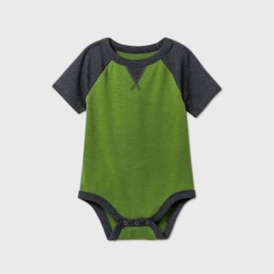 Baby Boys' Thermal Short Sleeve Bodysuit - Cat & Jack™ Green 0-3M