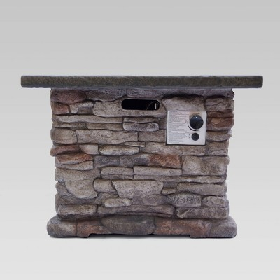 "32"" Stonewall Fire Pit Natural Stone - Christopher Knight Home"