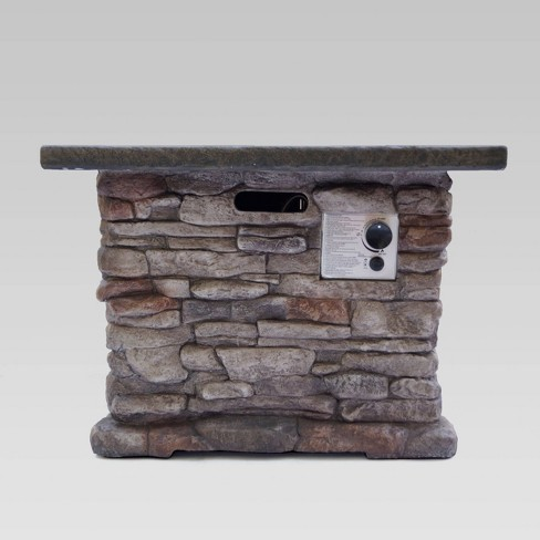 "32"" Stonewall Fire Pit Natural Stone - Christopher Knight Home - image 1 of 4"