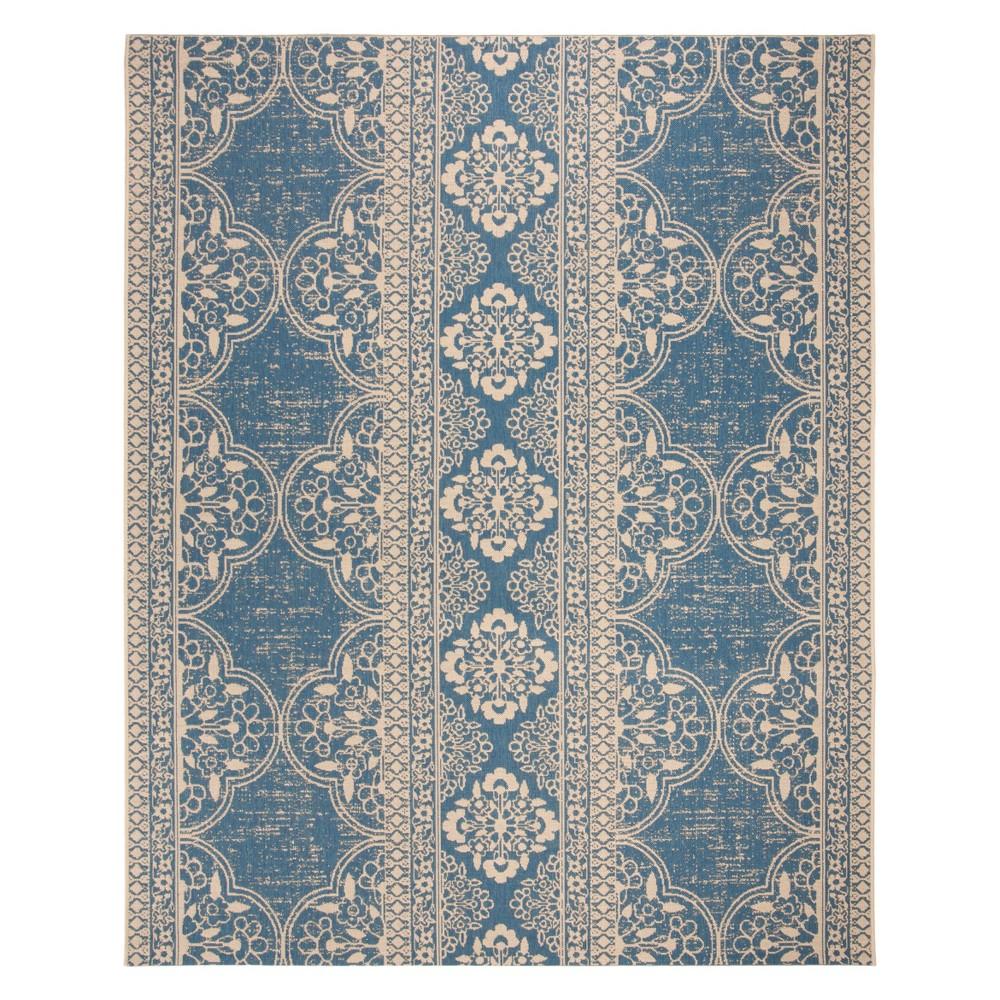 9'X12' Medallion Loomed Area Rug Cream/Blue (Ivory/Blue) - Safavieh