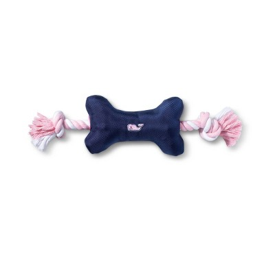 Pink Whale Dog Toy Rope - Navy - vineyard vines® for Target