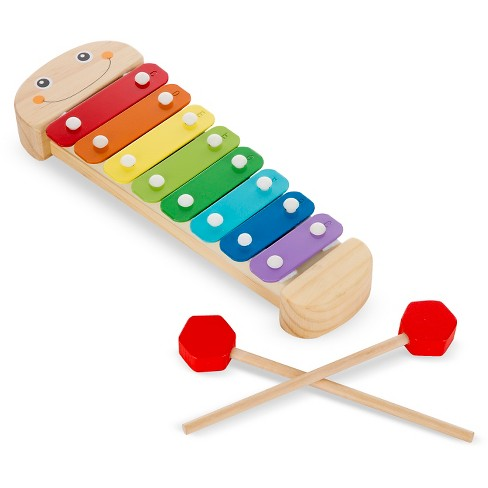 Melissa Doug Caterpillar Xylophone Musical Toy With Wooden Mallets