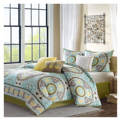 Blue Keya Comforter Set Queen 7pc