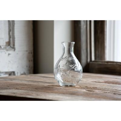 Park Hill Collection Etched Glass Bedside Vase