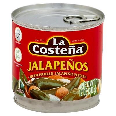 La Costena Jalapeno Peppers 12oz