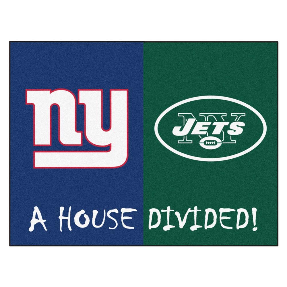 NFL New York Giants/New York Jets House Divided Rug 33.75