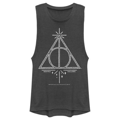 Junior's Harry Potter Deathly Hallows Symbol Festival Muscle Tee