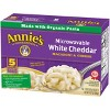 Annie's Microwavable White Cheddar Macaroni & Cheese Packets - 10.7oz/5pk - image 3 of 4