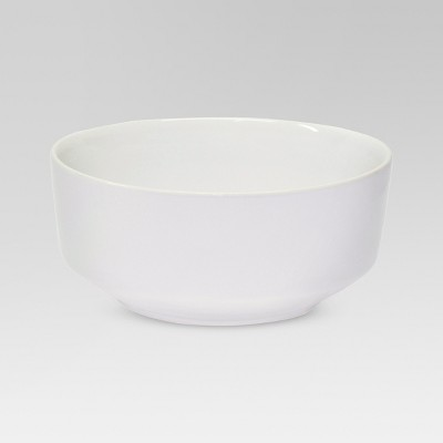 Soft Angled Porcelain Bowl 33.980oz White - Threshold™