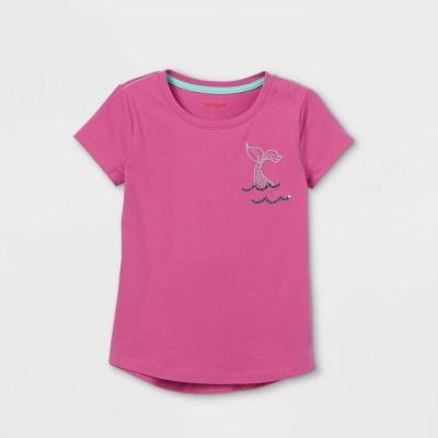 Girls' Mermaid Chest Hit Short Sleeve T-Shirt - Cat & Jack™ Pink