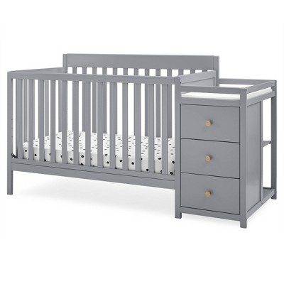 Delta Children Flynn Convertible Crib and Changer - Gray/Natural Knobs