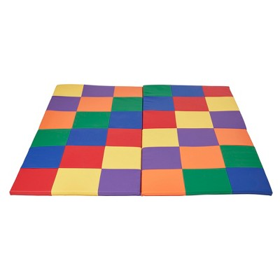 """ECR4Kids Softzone Patchwork Toddler Foam Play Activity Mat, 58"""" Square"""