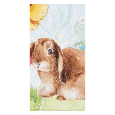 C&F Home Floppy Ear Bunny Embroidered Cotton Kitchen Towel