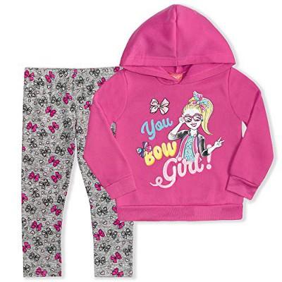 Nickelodeon Girl's 2-Pack You Bow Girl! Jojo Siwa Hooded Sweatshirt and Legging Pants Set for Kids