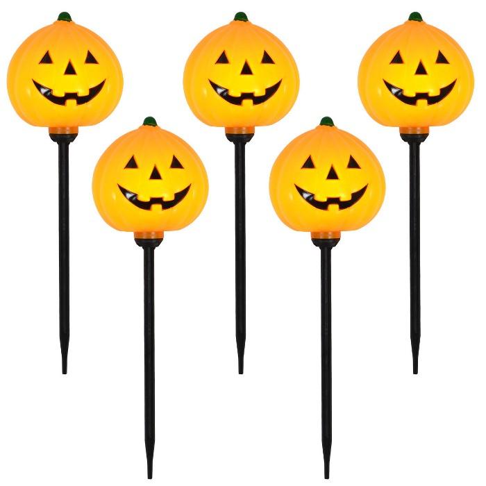 5ct Pumpkin Halloween Path Lights - Hyde & EEK! Boutique™ - image 1 of 2