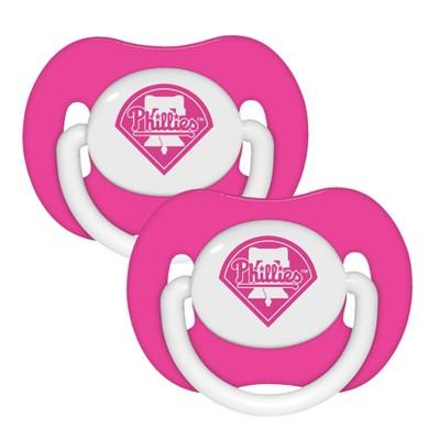 Philadelphia Phillies 2pk Pacifier Set - Pink