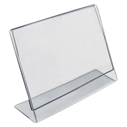 "Azar 3.5"" x 2.5"" L-Shaped Acrylic Sign Holder 10ct - image 1 of 1"