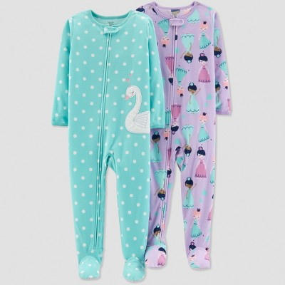 Baby Girls' Swan Pajama Set - Just One You® made by carter's Blue 18M