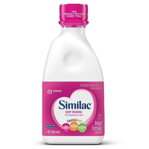 Similac Soy Isomil For Fussiness and Gas Infant Formula with Iron Ready-to-Feed - 32 fl oz - image 1 of 4