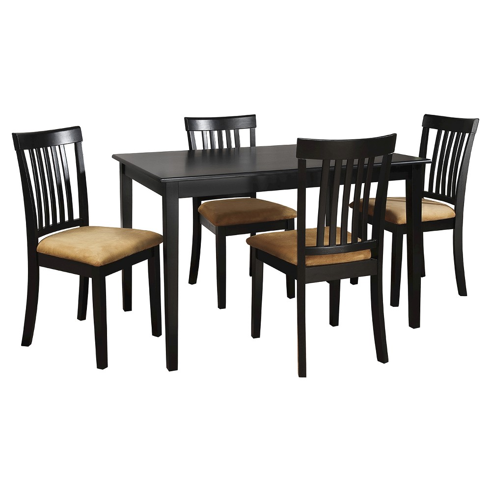 Collinsville 5-Piece Black Dining Set - Misson Back Chair