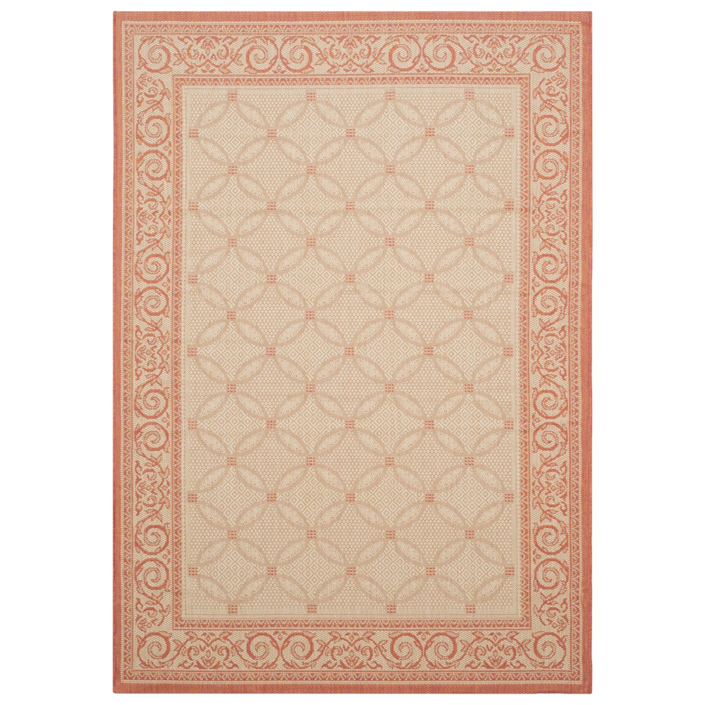 8' x 11' Morris Outdoor Rug Natural/Terracotta - Safavieh, Natural/Terra