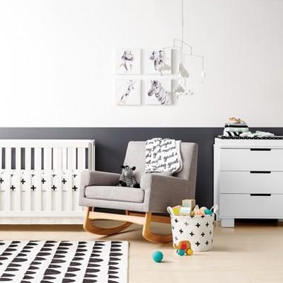 Black u0026 White Nursery Room - Cloud Island™ : Target