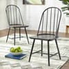 Set of 2 Milo Mixed Media Wood Top Chairs Black/Espresso Brown - Buylateral - image 2 of 3
