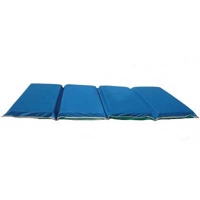 "2"" Thick Heavy-Duty Rest Mat Blue/Teal with Gray Binding - KinderMat"