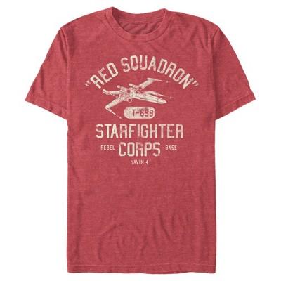 Men's Star Wars Rebel X-Wing Starfighter Corps Collegiate T-Shirt