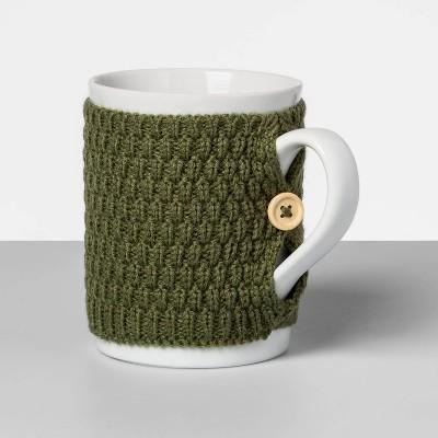 13oz Stoneware Sweater Mug Green - Opalhouse™