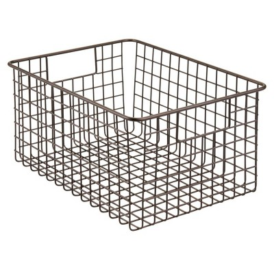 mDesign Wire Kitchen Food Storage Organizer Bin